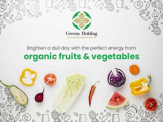 Brighten a dull day with the perfect energy from organic fruits and vegetables
